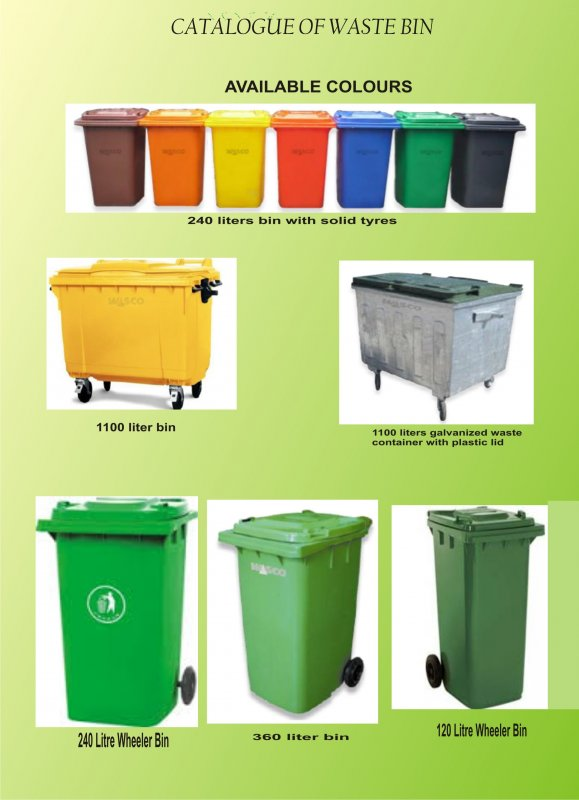 Buy High Quality Environmental Durable Waste Bin