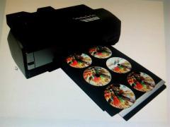 Digital inkjet cd/dvd printer