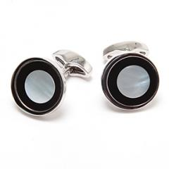 Black & White MOP Men's Luxury Cufflinks