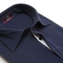 Men's Plain Navy Polo Short Sleeve Shirt
