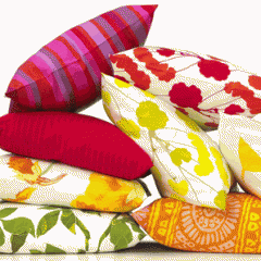 Throw Pillows, various sizes