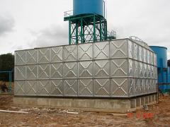 Pressed Steel Sectional Galvanised  and Fibre Tank