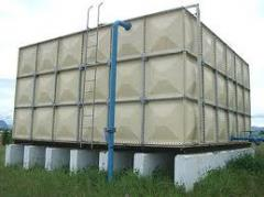 FIBRE WATER STORAGE TANKS