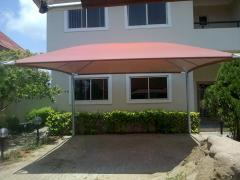 CARPORTS, SHADEPORTS, AWNINGS, PARASOLS,