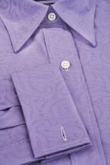 Bright Purple,Large Paisley - Luxury Women's
