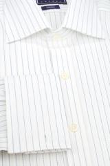 White & Blue, Stitched Woven Stripe -
