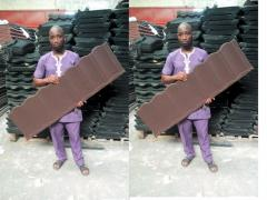 Mr donald stone coated roofing sheet with 50yrs warrantee 07062764235