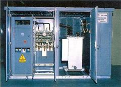 Metal-enclosed transformer substations