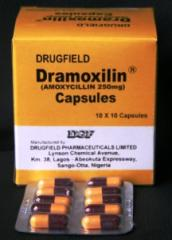 Dramoxilin Dry Suspension and Capsules