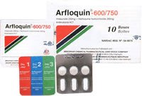 Arfloquin tablet (Artesunate 200mg + mefloquine