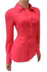 Pink Chiffon Long Sleeve Shirt