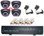 4-CH Mini Standalone DVR Security Kit