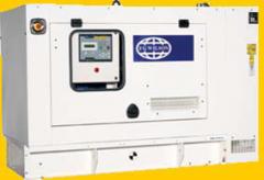 Sound attenuated enclosures for genegators