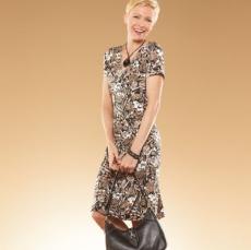 212 Collection Floral Surplice Dress