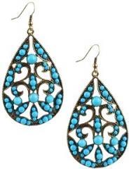 Beaded Oval Earrings