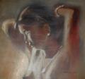 New dawn, oil by Akintunde John