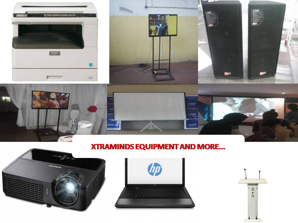 Order Rent projector and projector screen for training