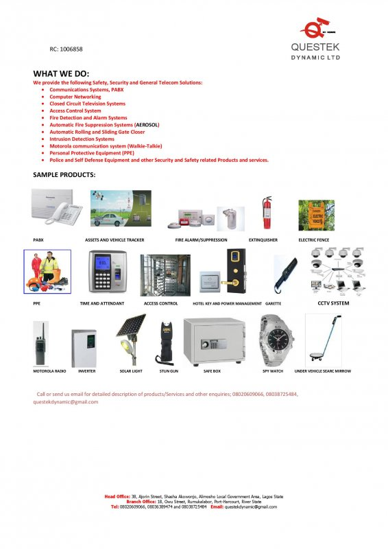 Order Safety, Security and Telecom