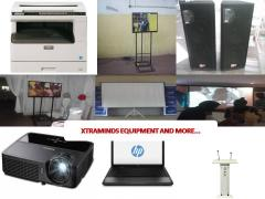 Rent projector and projector screen for training