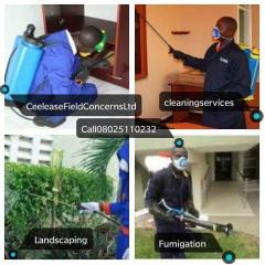 Fumigation, Cleaning, Painting and landscaping.